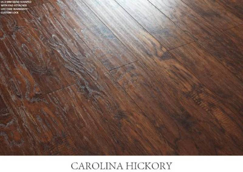 Hickory laminate flooring dixon run appalachian hickory 8 for Columbia classic clic laminate flooring