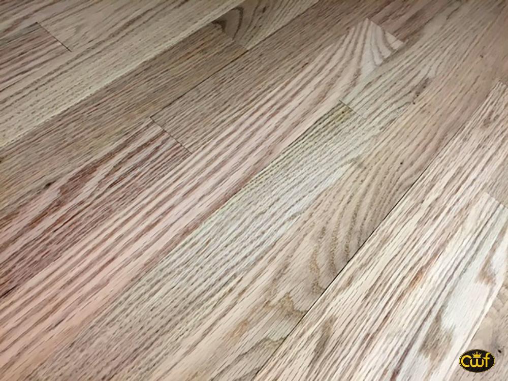 Solid Unfinished Flooring on Quarter Sawn Oak Trim