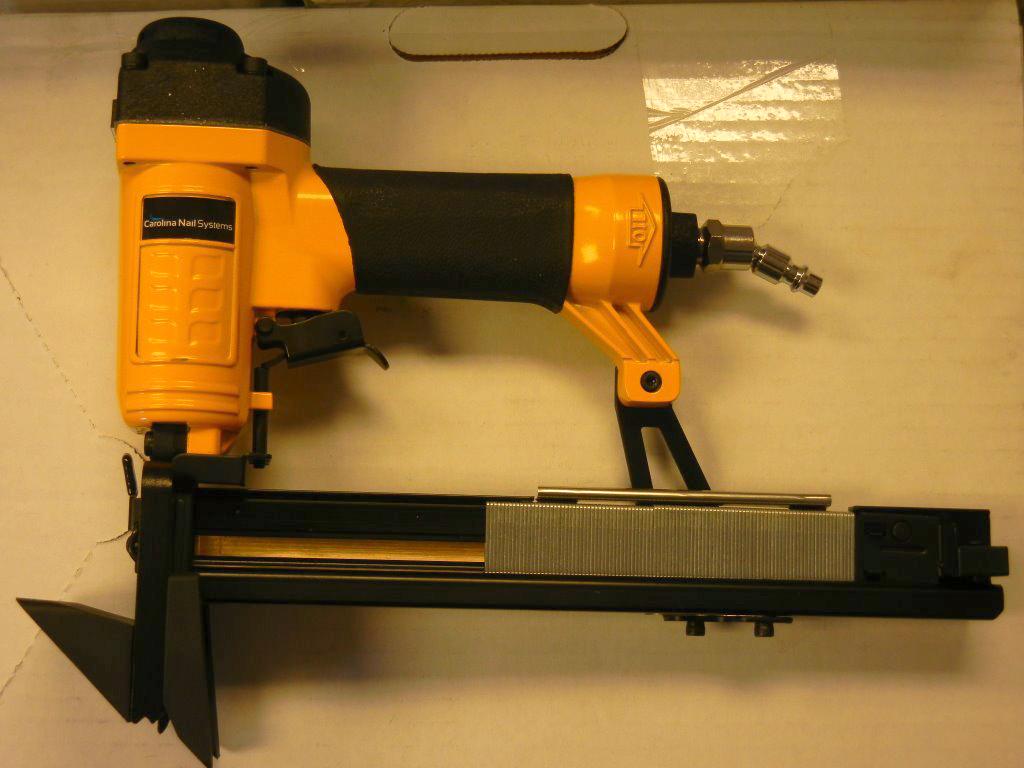 Stapler nail gun two in one carolina floor covering for Wood floor nailing gun