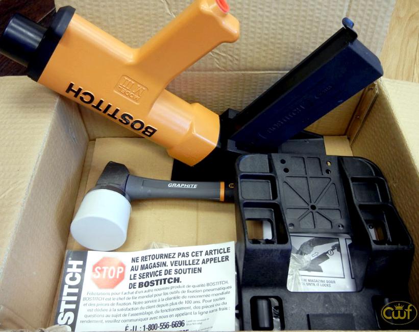 Hardwood Floor Stapler view larger Miiifs 155 Ga Hardwood Flooring Stapler Kit Bostitch