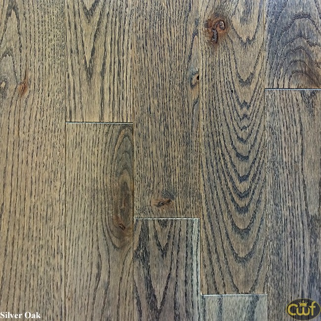 SOLID SILVER OAK - Timberland Wood Floors - Hickory-Evening Shadow 3 1/4