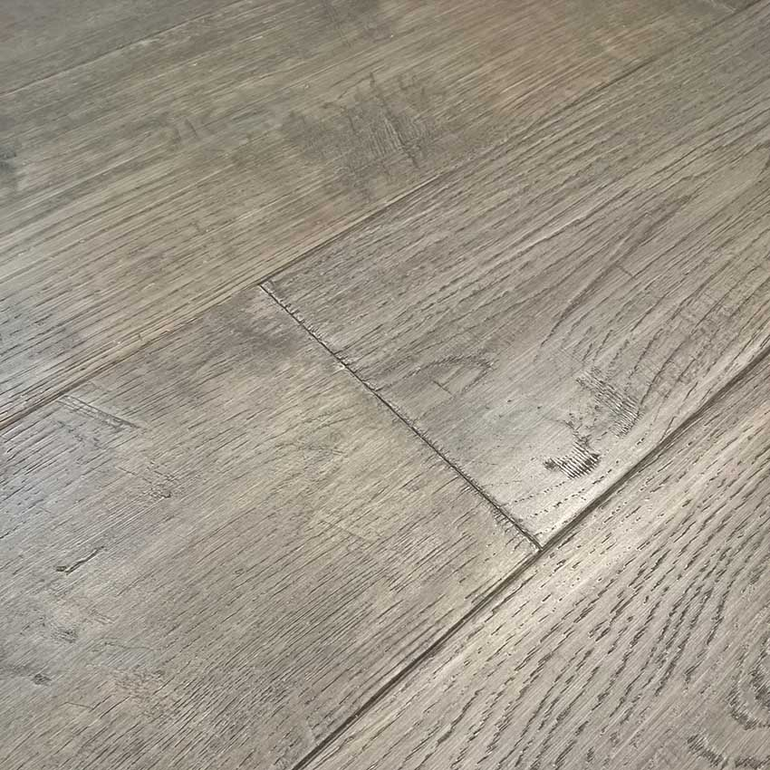 Smoked Parchment 5 Hand Scraped Solid Oak Carolina Floor Covering