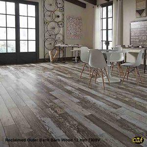 Reclaimed Outer Bank Barn Wood 4 15 16, Gray Barnwood Laminate Flooring